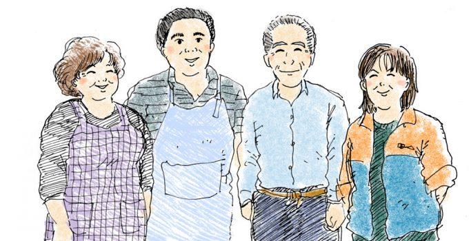 4人一緒のところ-色つき